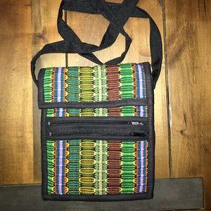 Handbags - Multi-Colored Textile Purse NWOT